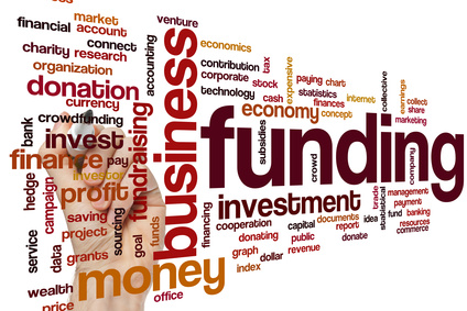 Funding word cloud concept